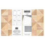 American Crafts - Monthly Planner - Geo Wood Grain - Jan. 2018 to Jan. 2019
