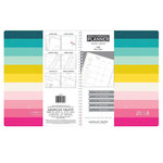 American Crafts - Monthly Planner - Multi-Color Stripe