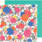 American Crafts - All The Good Things Collection - 12 x 12 Double Sided Paper - Blossom to Awesome