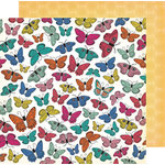 American Crafts - All The Good Things Collection - 12 x 12 Double Sided Paper - Social Butterfly