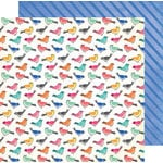 American Crafts - All The Good Things Collection - 12 x 12 Double Sided Paper - Birds of a Feather