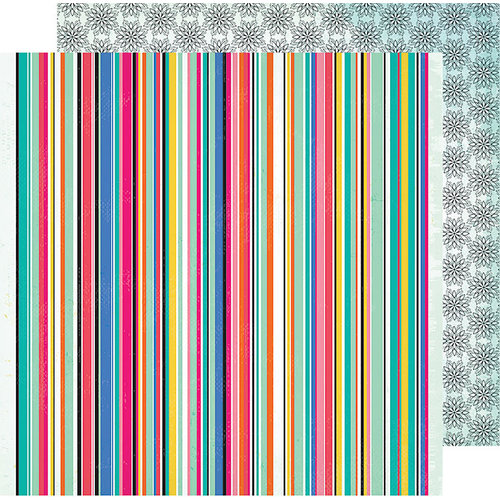 American Crafts - All The Good Things Collection - 12 x 12 Double Sided Paper - Happy Thoughts