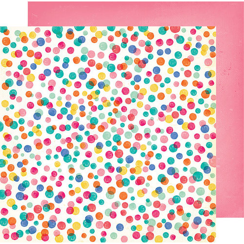 American Crafts - All The Good Things Collection - 12 x 12 Double Sided Paper - Pop of Color