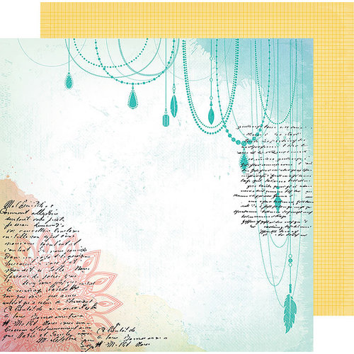 American Crafts - All The Good Things Collection - 12 x 12 Double Sided Paper - Shine Brightly
