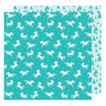 American Crafts - Glitter Girl Collection - 12 x 12 Double Sided Paper - Run Wild