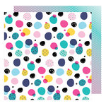 American Crafts - Glitter Girl Collection - 12 x 12 Double Sided Paper - Get Messy