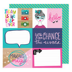 American Crafts - Glitter Girl Collection - 12 x 12 Double Sided Paper - Make Magic