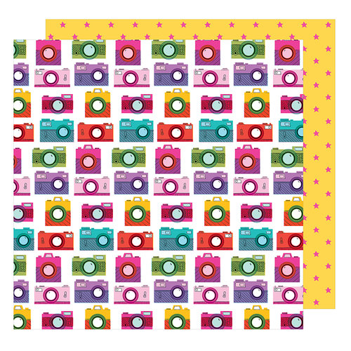 American Crafts - Glitter Girl Collection - 12 x 12 Double Sided Paper - Snap To It