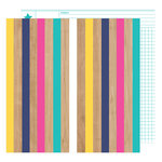 American Crafts - Glitter Girl Collection - 12 x 12 Double Sided Paper - Fall In Line
