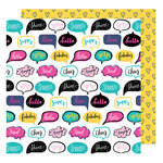 American Crafts - Glitter Girl Collection - 12 x 12 Double Sided Paper - Talk It Up