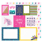 American Crafts - Glitter Girl Collection - 12 x 12 Double Sided Paper - Mix and Match