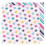 American Crafts - Glitter Girl Collection - 12 x 12 Double Sided Paper - Tweet Sweet
