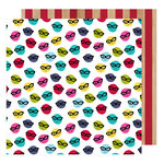 American Crafts - Glitter Girl Collection - 12 x 12 Double Sided Paper - Go Incognito