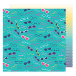 American Crafts - Glitter Girl Collection - 12 x 12 Double Sided Paper - Keep Your Cool