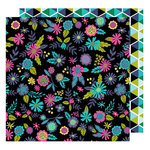 American Crafts - Glitter Girl Collection - 12 x 12 Double Sided Paper - Find a Flower