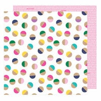 American Crafts - Glitter Girl Collection - 12 x 12 Double Sided Paper - Embrace Chaos