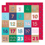 American Crafts - Glitter Girl Collection - 12 x 12 Double Sided Paper - Countdown
