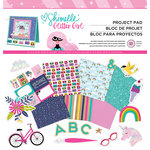 American Crafts - Glitter Girl Collection - 12 x 12 Project Pad with Glitter and Foil Accents