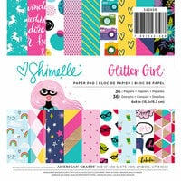American Crafts - Glitter Girl Collection - 6 x 6 Paper Pad - 36 Pack