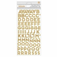 American Crafts - Glitter Girl Collection - Thickers - Marquee - Gold Glitter