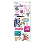American Crafts - Glitter Girl Collection - Cardstock Stickers with Foil Accents - Accents and Phrases