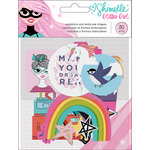 American Crafts - Glitter Girl Collection - Ephemera with Foil Accents