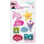 American Crafts - Glitter Girl Collection - Glitter Shaker Stickers