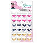 American Crafts - Glitter Girl Collection - Corner Embellishments