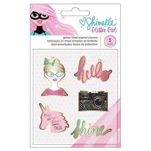 American Crafts - Glitter Girl Collection - Enamel Charms