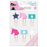 American Crafts - Glitter Girl Collection - Icon Paper Clips with Glitter Accents