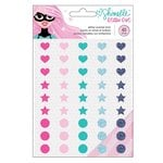 American Crafts - Glitter Girl Collection - Enamel Dots