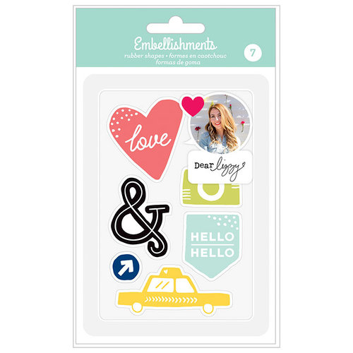 American Crafts - Rubber Shapes - Dear Lizzy