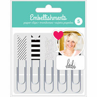 American Crafts - Paper Clips with Glitter Accents - Black and White - Heidi Swapp