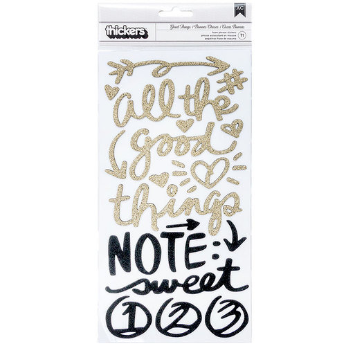 Vicki Boutin - All The Good Things Collection - Thickers - Foam - Phrase - Gold Glitter