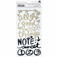 American Crafts - All The Good Things Collection - Thickers - Foam - Phrase - Gold Glitter