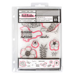 American Crafts - All The Good Things Collection - Dies and Clear Acrylic Stamps - Set 2