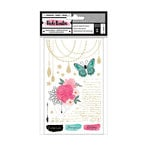American Crafts - All The Good Things Collection - Rub Ons with Gold Foil Accents