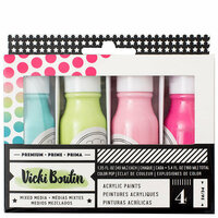 American Crafts - All The Good Things Collection - Mediums - Acrylic Color Pop Paint - Set 3