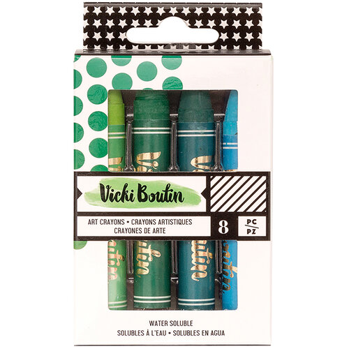 Vicki Boutin - All The Good Things Collection - Mediums - Art Crayons - Set 2 - Cool