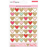 Crate Paper - Main Squeeze Collection - Cardstock Stickers with Glitter Accents - Waterfall