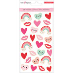 Crate Paper - Main Squeeze Collection - Puffy Stickers with Foil Accents