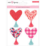 Crate Paper - Main Squeeze Collection - Heart Tassels