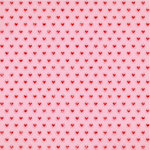 Crate Paper - Main Squeeze Collection - 12 x 12 Paper with Glitter Accents - Heartbeat