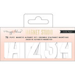 Crate Paper - Magnet Studio Collection - Alpha Small - White