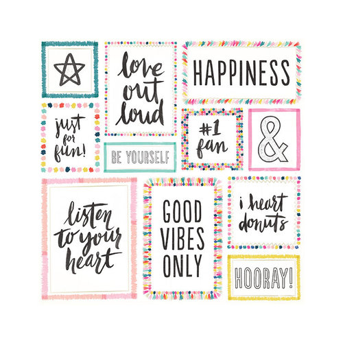 Crate Paper - Good Vibes Collection - 12 x 12 Double Sided Paper with Foil Accents - Big Heart