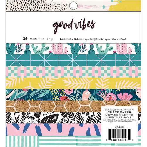 Crate Paper - Good Vibes Collection - 6 x 6 Paper Pad
