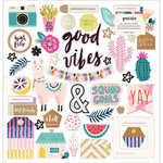 Crate Paper - Good Vibes Collection - Chipboard Stickers with Foil Accents