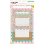 Crate Paper - Good Vibes Collection - Pom Pom Frames with Glitter Accents
