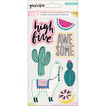 Crate Paper - Good Vibes Collection - Embossed Puffy Stickers