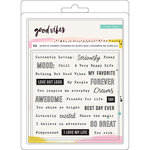 Crate Paper - Good Vibes Collection - Clear Acrylic Stamps